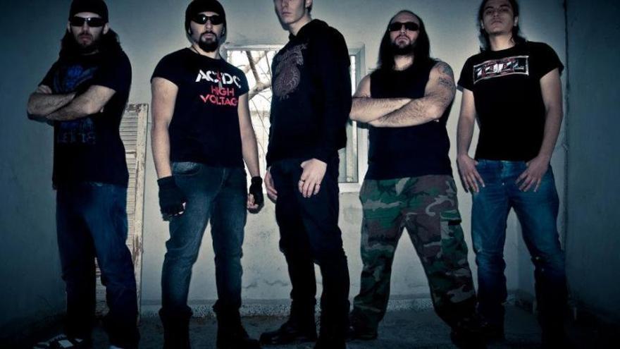 Los miembros de la banda siria de heavy-metal Anarchadia. Fuente: Syria Untold