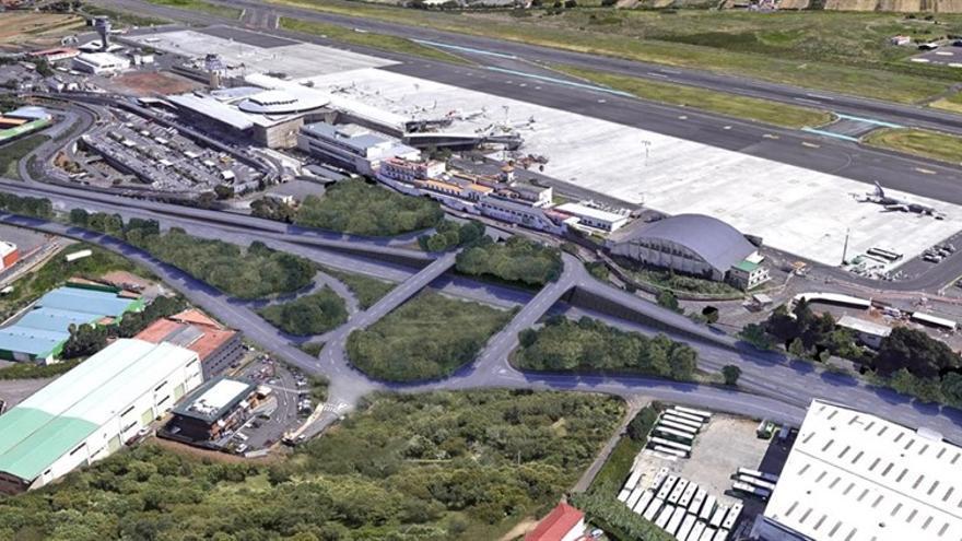 Visión aérea de la carretera TF-5.
