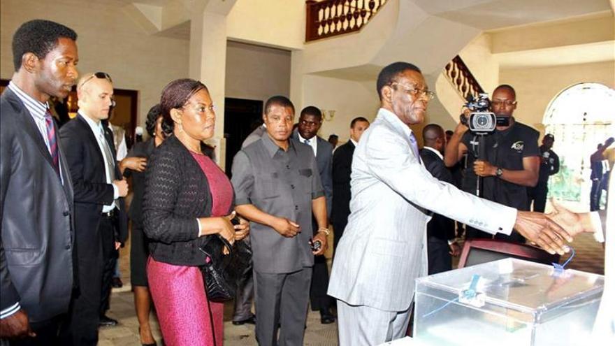 Victoria abrumadora del partido de Obiang tras los primeros recuentos