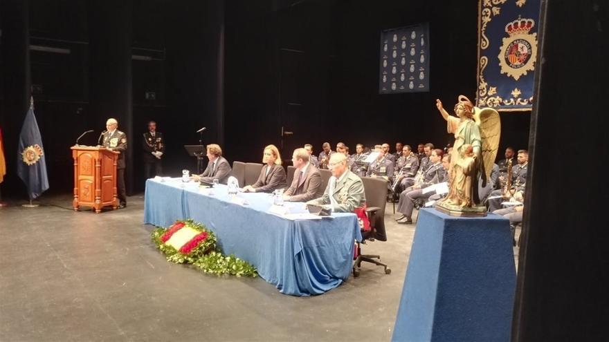 Acto de celebración del Día de la Policía, este lunes en Canarias