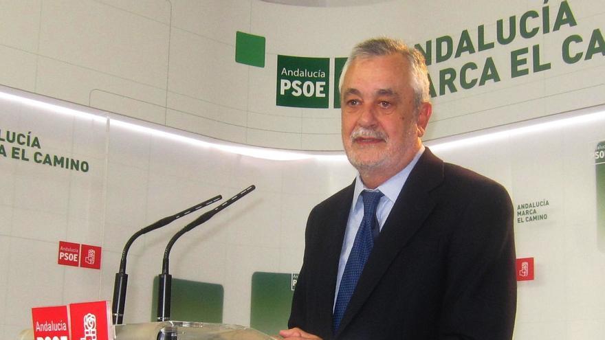 Griñán aboga por impulsar la Comisión de Financiación de Partidos en Andalucía y publicar los ingresos que tienen