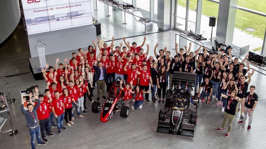 Equipos Formula Student presentan en AIC los monoplazas con los que competirán en Silvertone, Hockenhein y Barcelona