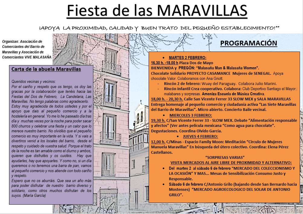Programa oficial de fiestas de Maravillas