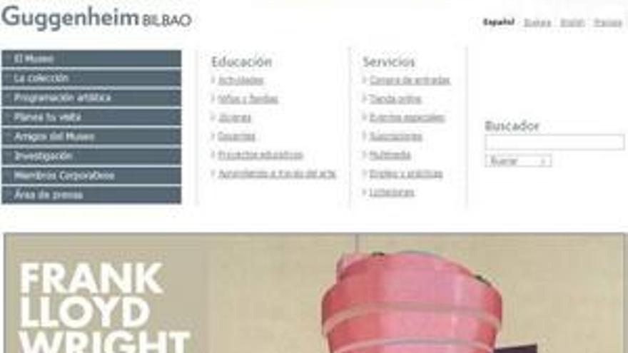 Página web del museo Guggenheim. (EP)