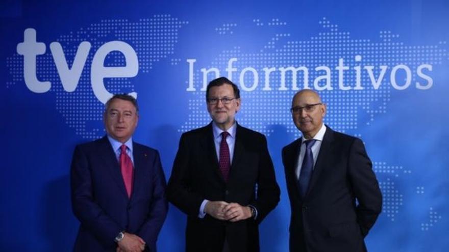 José Antonio Sánchez, Mariano Rajoy y José Antonio Álvarez Gundín