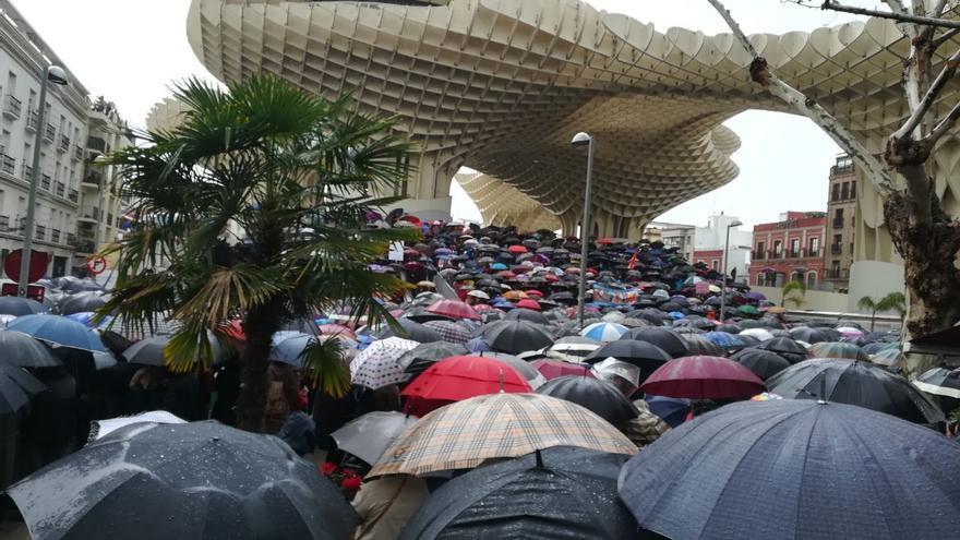 Manifestación por las pensiones dignas en Sevilla.