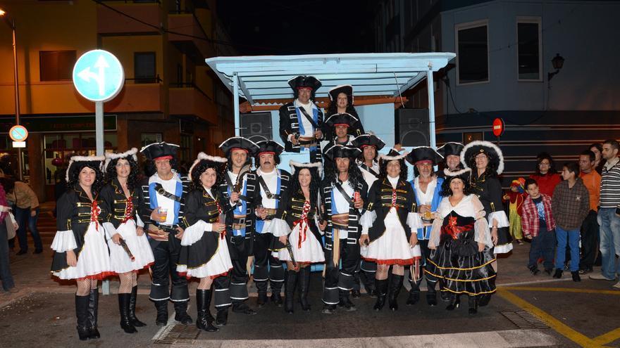 Un grupo participante en el Carnaval de San Sebastián de La Gomera