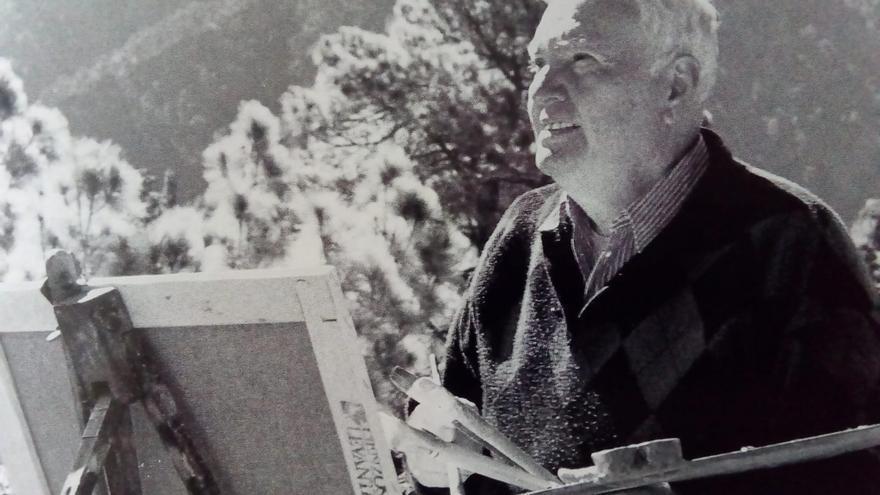Quico Concepción pintaba barrancos, árboles, rincones entrañables, el mar, lugares y gentes.