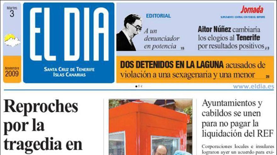 De las portadas del día (3/11/2009) #1