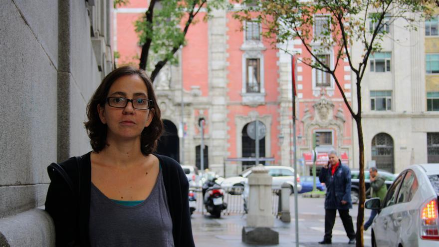 Carolina del Olmo, el 4 de octubre de 2013 en Madrid.