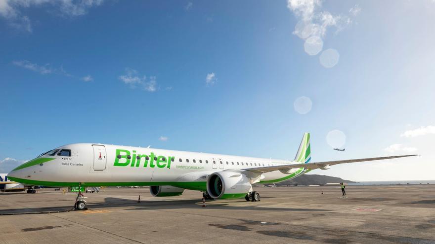 Avión Embraer E195-E2  de Binter.