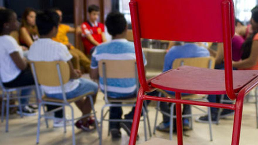 Reunión de escolares.