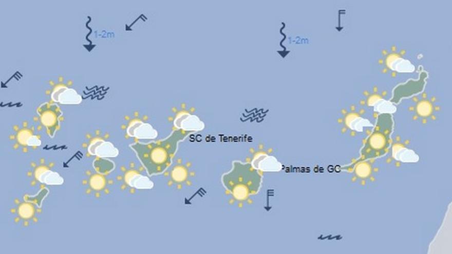 Mapa de la previsión del tiempo para el lunes 11 de julio