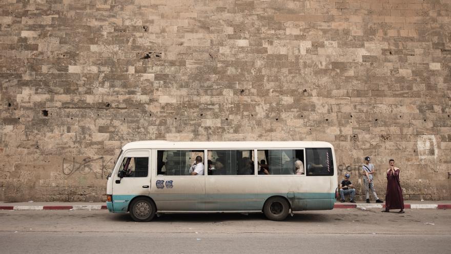 Una estación de autobús en la ciudad argelina de Orán