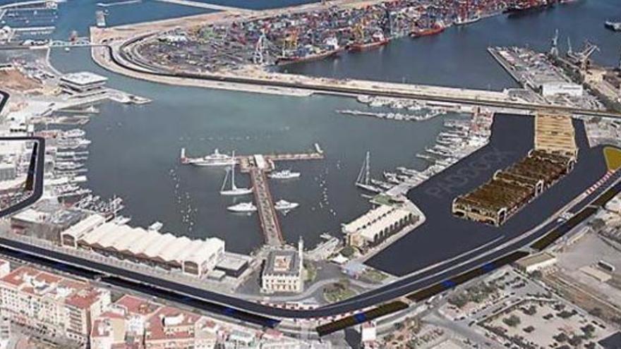 Las instalaciones del Puerto de Valencia y el circuito urbano de Fórmula 1