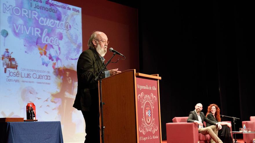 José Luis Cuerda, durante su intervención / Ayuntamiento de Argamasilla de Alba