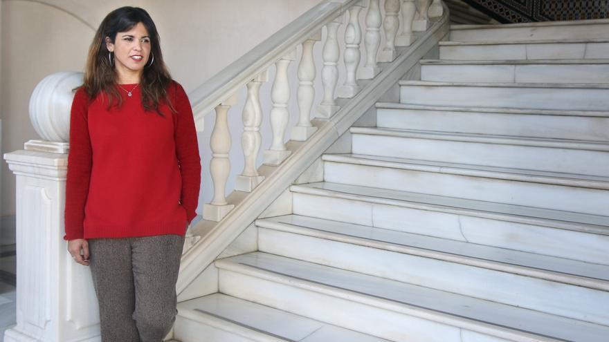 """Teresa Rodríguez dice que adelantar las generales dependerá de las decisiones que tome el PSOE, """"la muleta del PP"""""""
