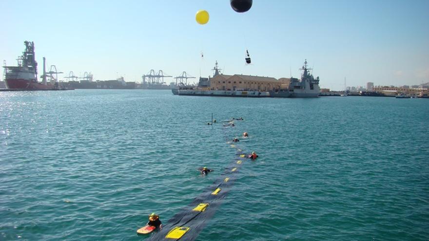 Acción antimilitarista en la Base Naval de Las Palmas de Gran Canaria 5 (Thalía Rodríguez)