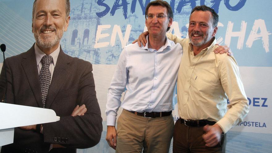 Feijóo, este domingo con su candidato en Santiago, Agustín Hernández