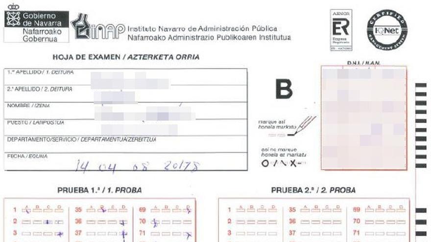 La Policía Foral detiene a dos personas por suplantación de identidad en un examen oficial