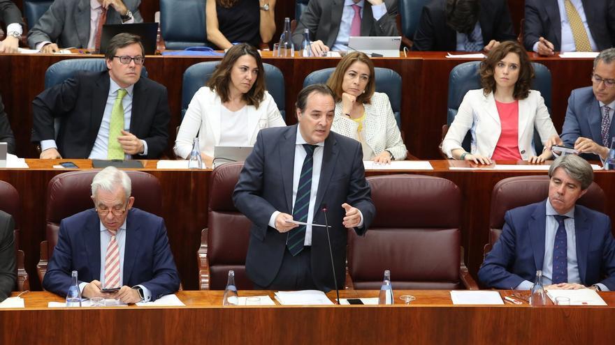 González Taboada, durante un pleno de la Asamblea.