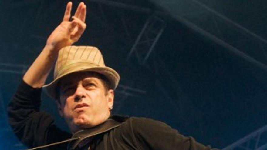 Juan Perro, durante su actuación.