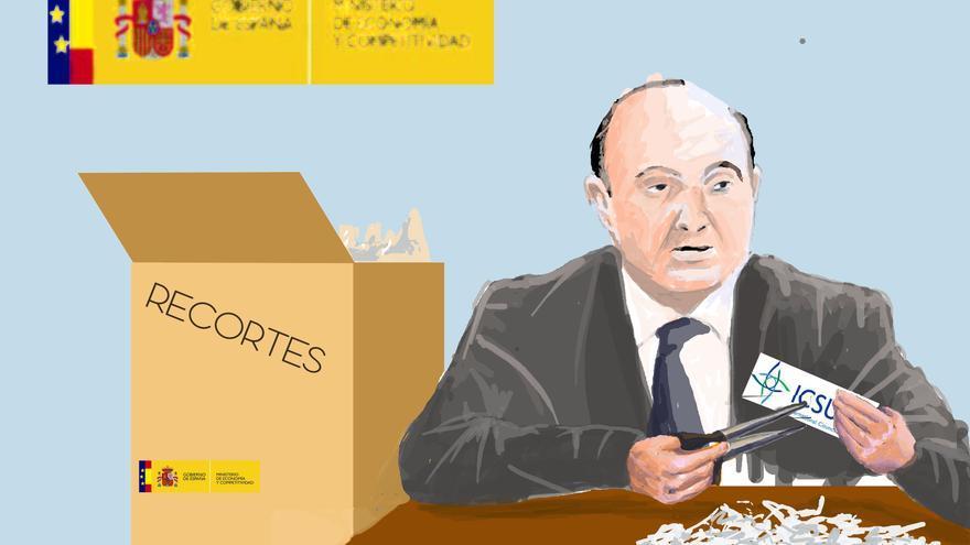 """Ilustracion de Vilar Vega  """"Recortes"""""""
