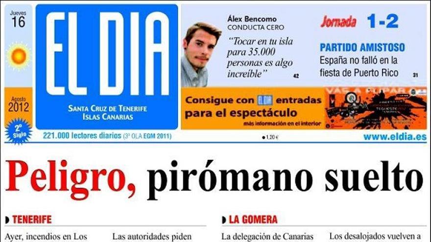 De las portadas del día (16/08/2012) #3