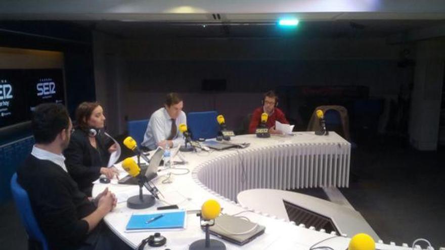 Debate de la Cadena Ser entre Íñigo Errejón, Rafael Hernando y Antonio Hernando