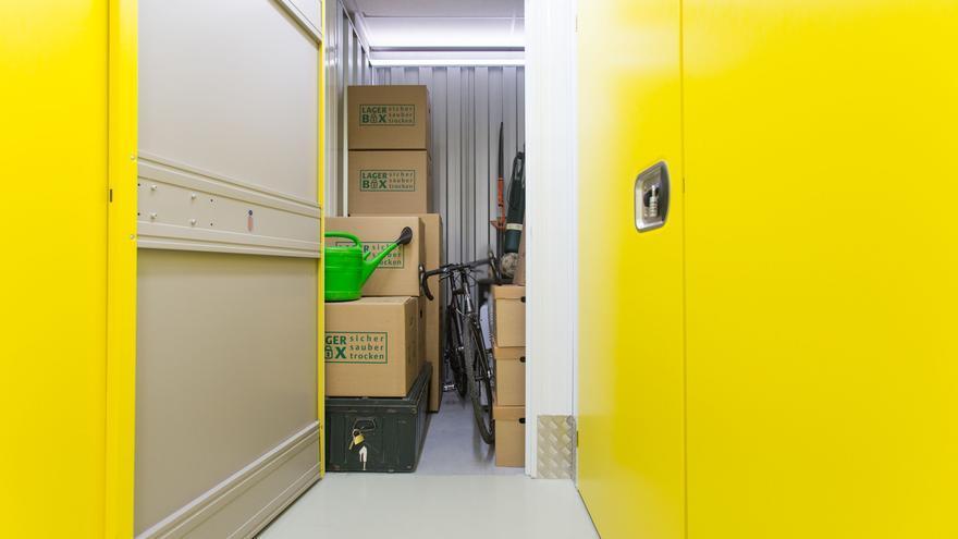 Un trastero de la empresa Lagerbox en Fráncfort.
