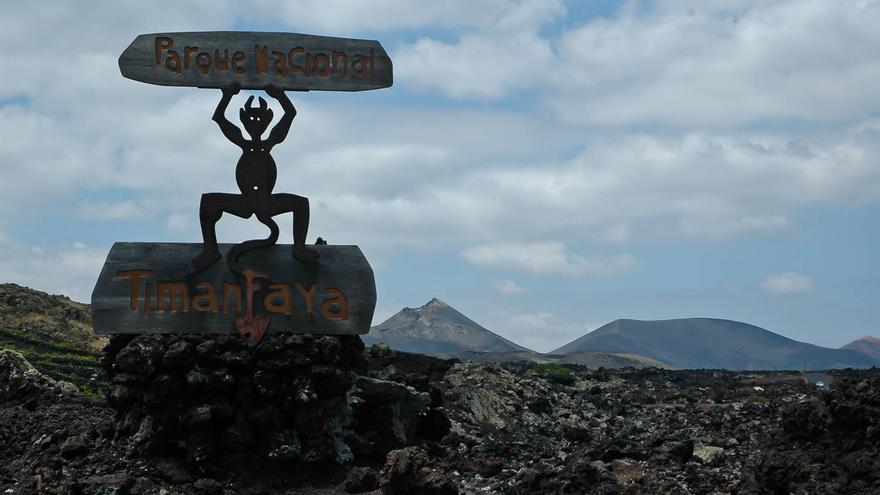 El 'diablito', símbolo del Parque Nacional de Timanfaya. VIAJAR AHORA