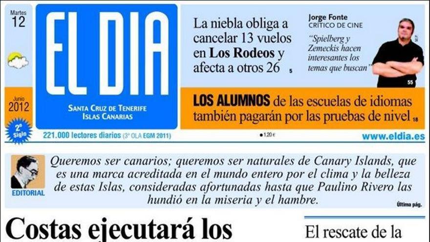 De las portadas del día (12/06/2012) #4