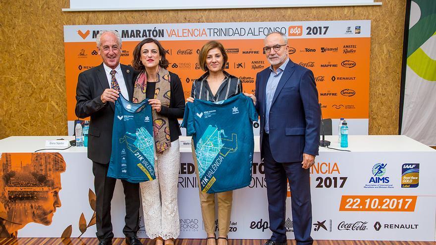 Las diferentes autoridades en el acto de presentación del Medio Maratón