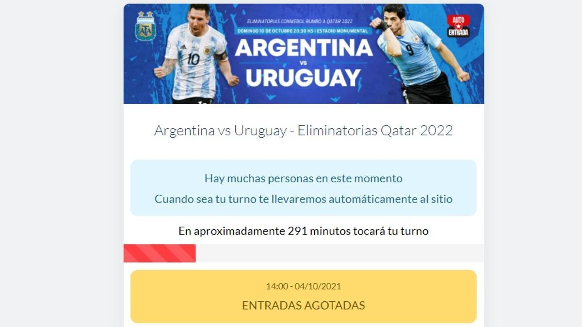 En horas, se agotaron las entradas para ver Argentina-Uruguay por Eliminatorias.