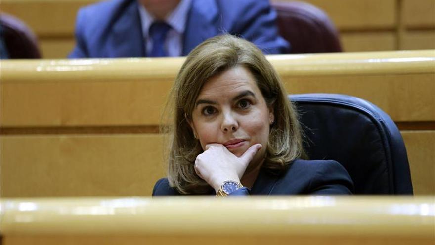 """S.Santamaría acusa a Mas de """"saltarse la ley con la excusa de la política"""""""
