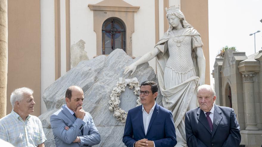 Acto de conmemoración en honor a los náufragos del 'Sudamérica'.