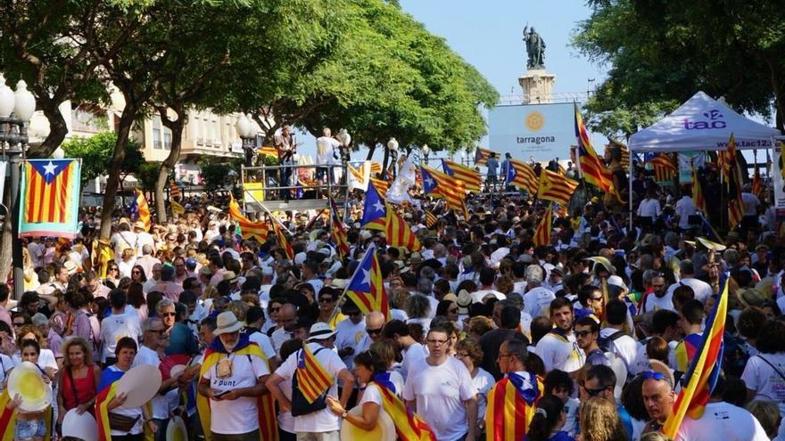 Acaban las concentraciones independentistas en cinco localidades de Cataluña