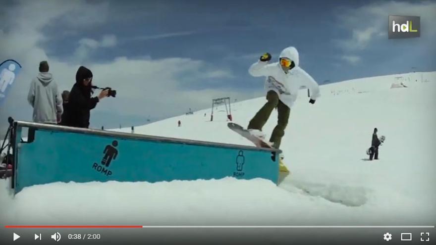 'Josito' Aragón, una de las más firmes promesas del Snowboard.