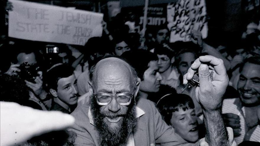 Enterrado en Hebrón el rabino Levinger, líder del movimiento colono judío