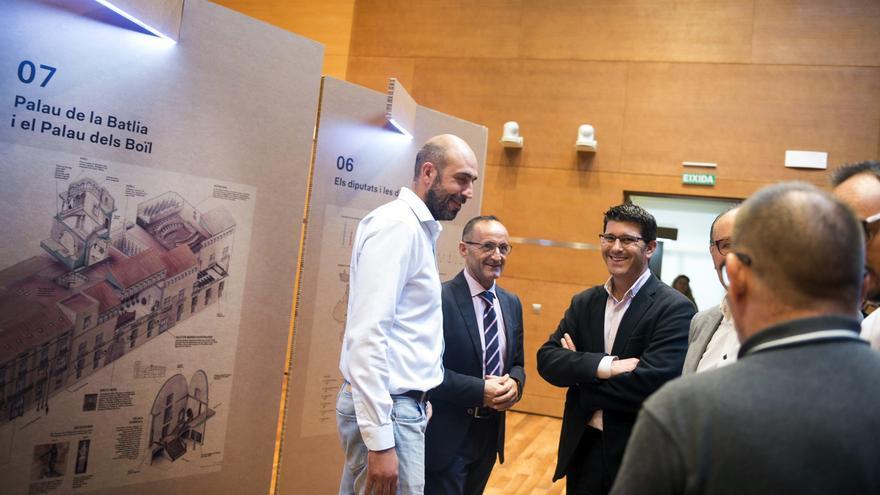 Jorge Rodríguez ha obert l'exposició sobre la Diputació
