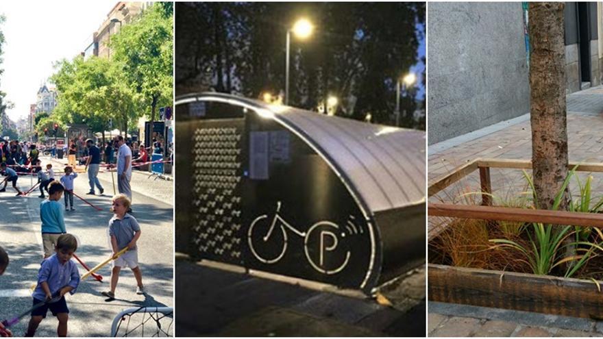 Tres de los proyectos a votación: peatonalizar Fuencarral de viernes a domingo, párking para bicis y jardines en alcorques