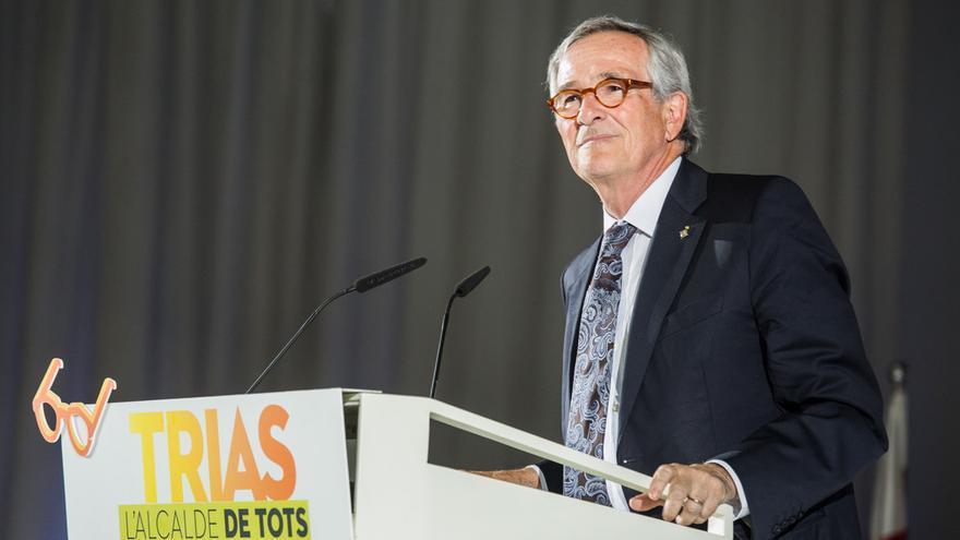 Xavier Trias en l'acte d'inici de campanya, en el moment d'iniciar el seu discurs / ENRIC CATALÀ
