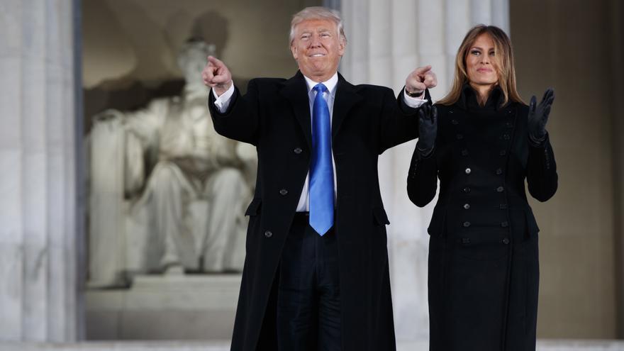 Donald y Melania Trump en un acto previo a la toma de posesión de este viernes (Associated Press)