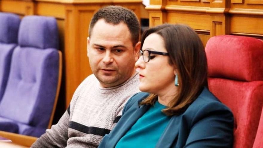 David Llorente y María Díez, diputados de Podemos en Castilla-La Mancha