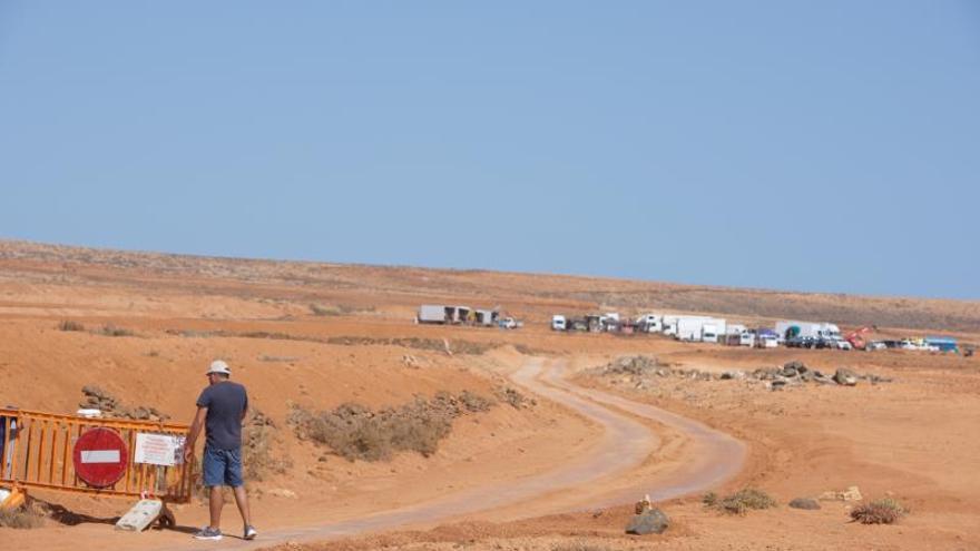 Vista de un rodaje de Disney en Fuerteventura.