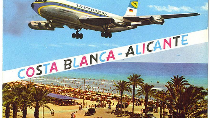Postal antigua de Turismo de Alicante