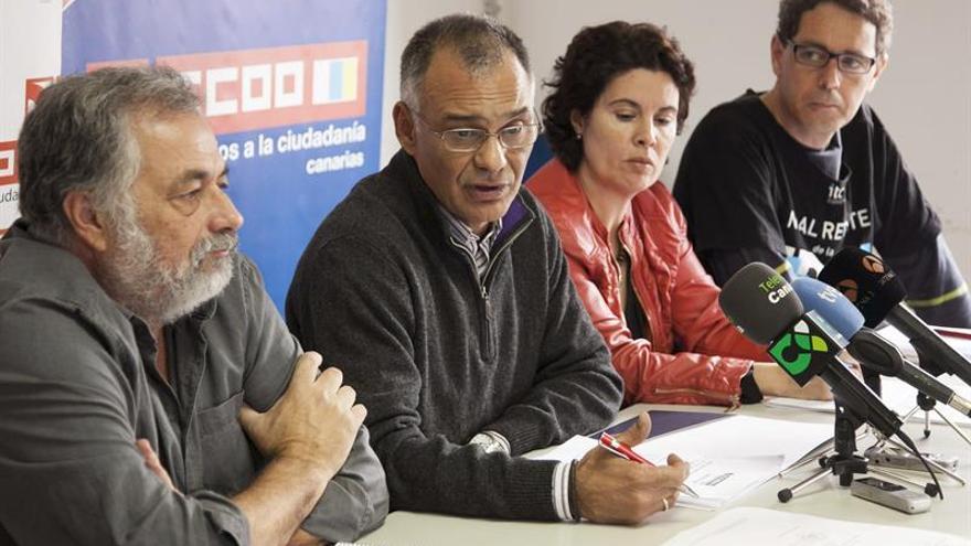 Rueda de prensa CCOO Gran Canaria (EFE)