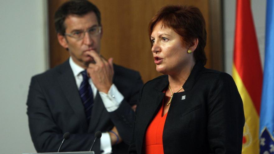 Feijóo y la conselleira de Sanidade, Rocío Mosquera, en una imagen de archivo