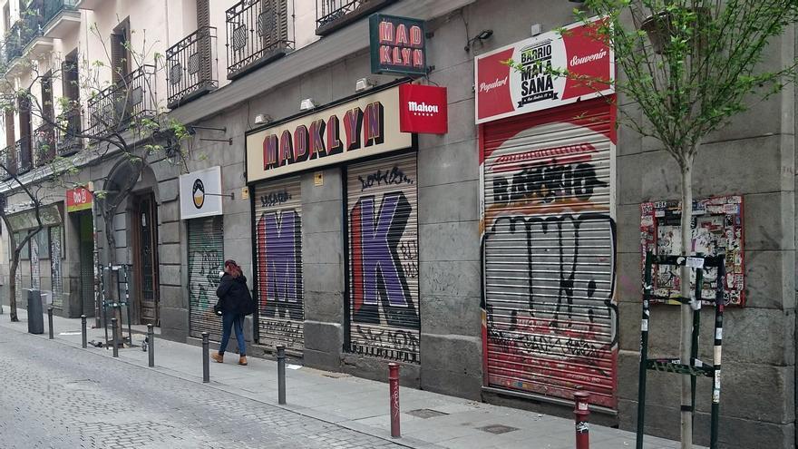 Calle san Andrés, con varios bares cerrados durante la pandemia del Covid-19 | SOMOS MALASAÑA