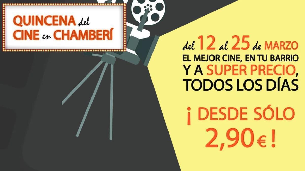 Cartel de la Quincena del cine en Chamberí